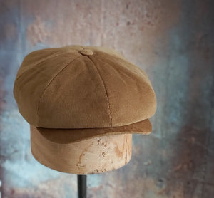 THEO - Tobacco Tan Corduroy Newsboy Cap - Originals