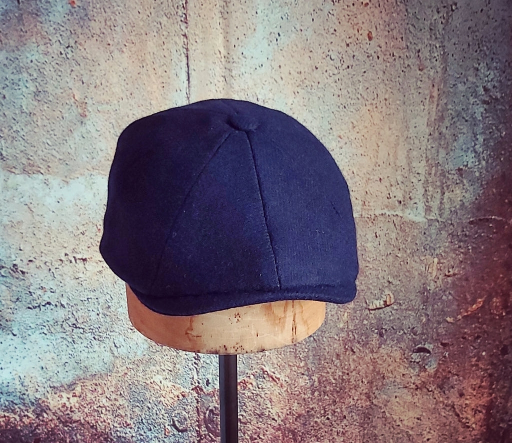 JACK  - Navy Twill  - Merino Lambswool - Slim Cut Newsboy Cap