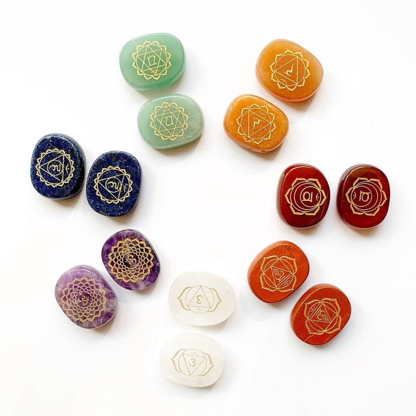 7 Chakra pierres ensemble cristaux de pierre Yoga méditation Reiki