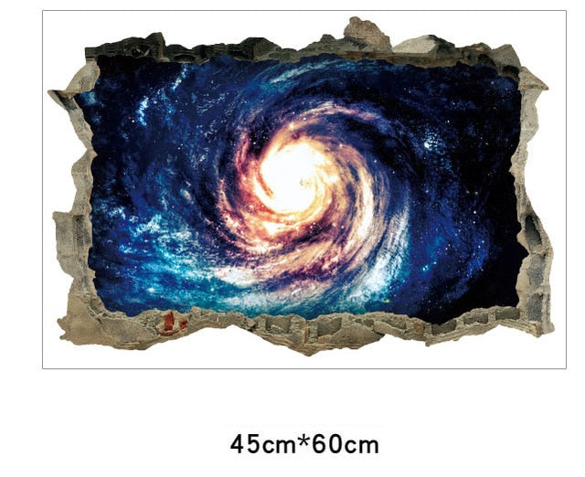 Creative 3D univers Galaxy Stickers mu