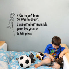 Le petit Prince citations vinyle Sticker Mural