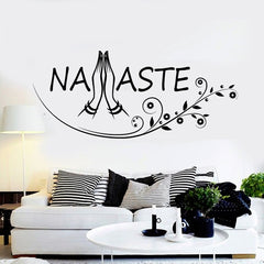 Namaste lettres mur Art Stickers