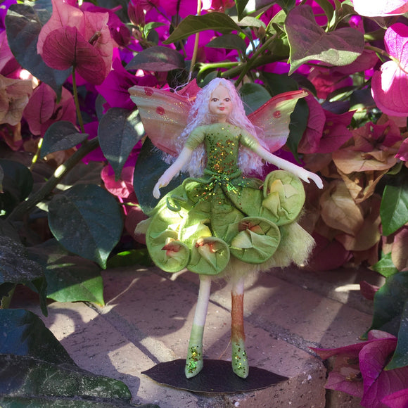 Fae Folk World Winged Flower Fairy Doll Fern