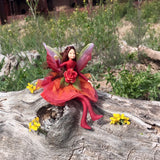 Fae Folk World Winged Flower Fairy Doll Ember