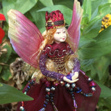 Fae Folk World Winged Jewel Fairy Garnet