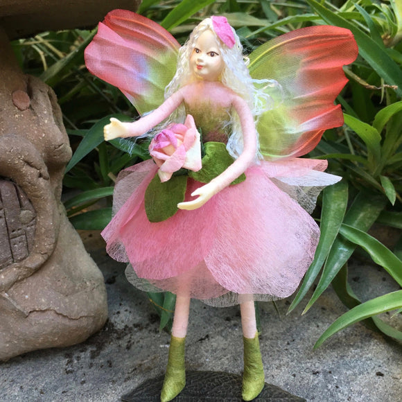 Fae Folk World Winged Pink Fairy Doll Bella