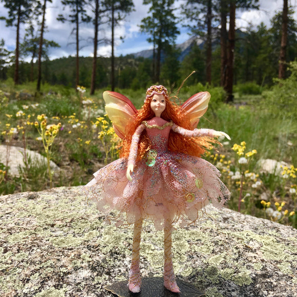 Fae Folk World Winged Lace Fairy Doll Chantilly