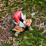 Garden Gnome Riding Turtle