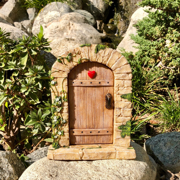 Fairy Door - Cobblestone Frame with Heart