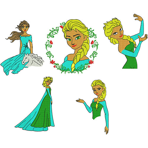 Elsa Machine Embroidery Designs
