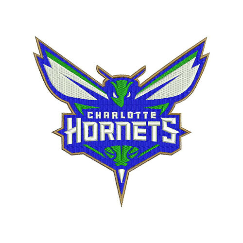 Charlotte Hornets Logo Machine Embroidery Designs