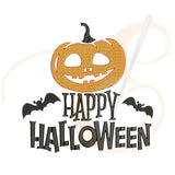 Happy Halloween With Pumpkin Machine Embroidery Designs