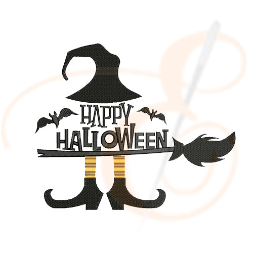 Happy Halloween With Witches Machine Embroidery Designs