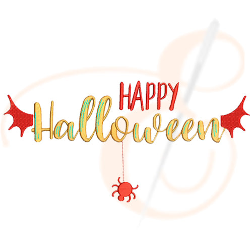 Happy Halloween Monogram Machine Embroidery Designs
