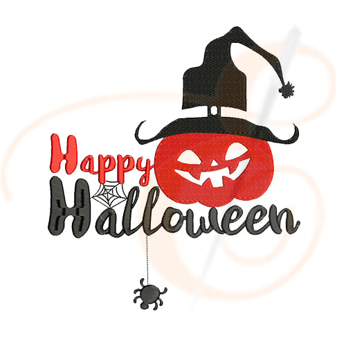 Happy Halloween With Scary Pumpkin Machine Embroidery Designs