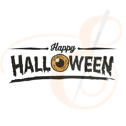 Happy Halloween With Scary Eye Machine Embroidery Designs.