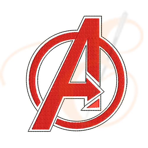 Avengers Logo Machine Embroidery Designs