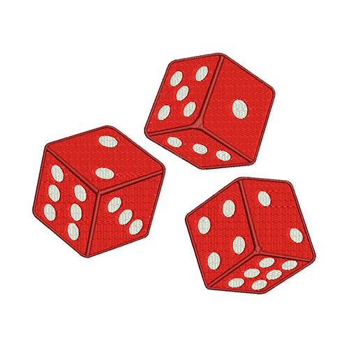 Rolling Dice Machine Embroidery Designs