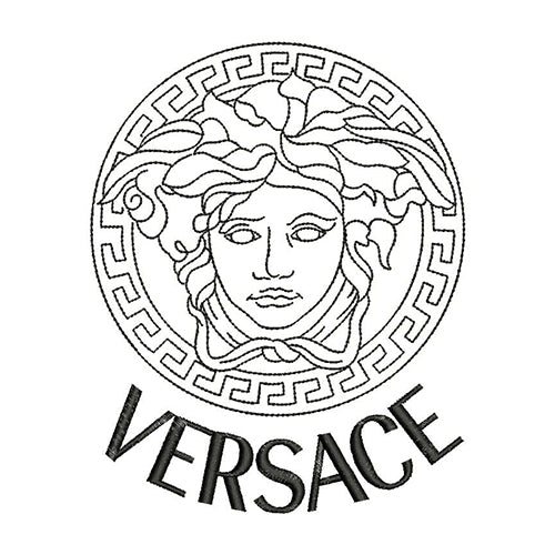 Versace Logo Machine Embroidery Designs(2 Design)