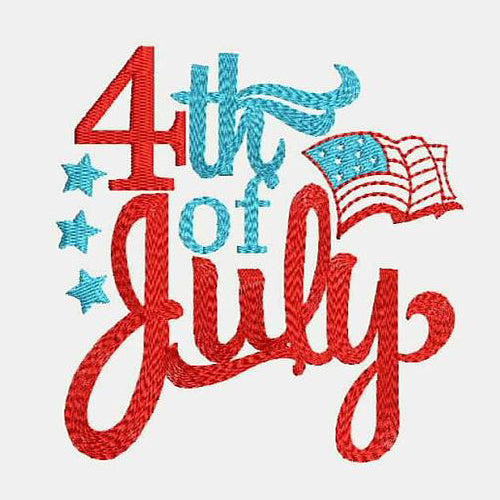 4th of July Machine Embroidery Design