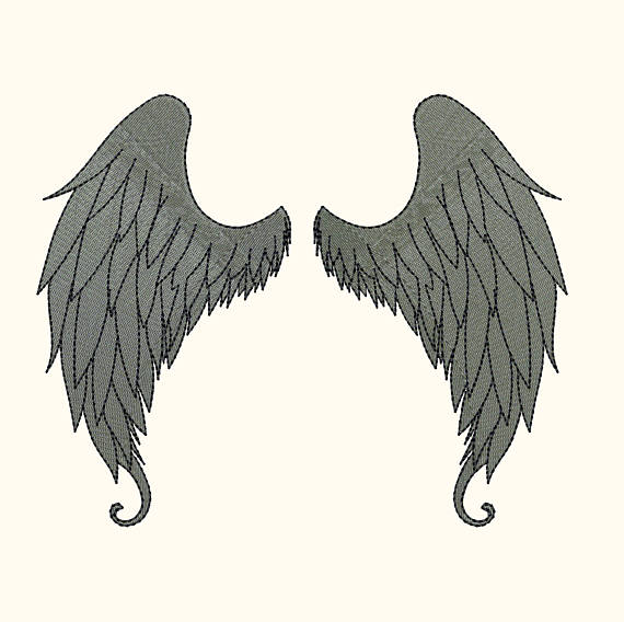 Angel Wings Machine Embroidery Design