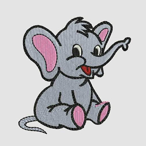 Baby Elephant-Machine Embroidery Designs 86