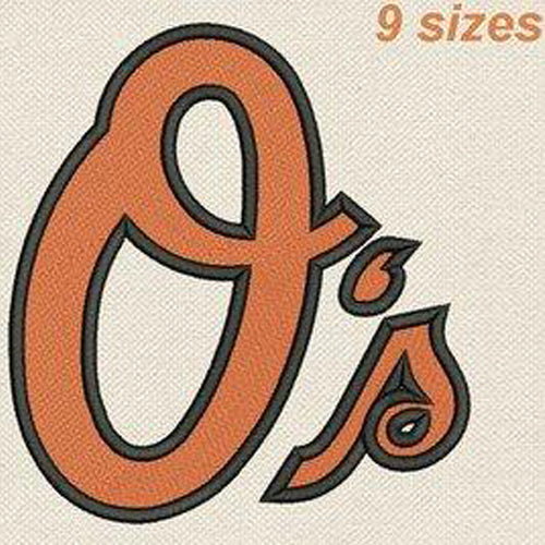 Baltimore Orioles Logo Machine Embroidery Designs