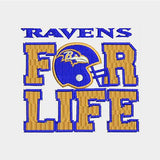 Baltimore Ravens Logo With Helmet in Square Shape Machine Embroidery Designs