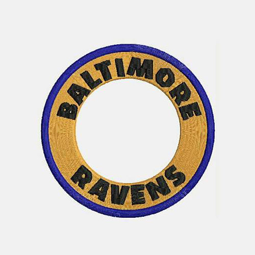 Baltimore Ravens Monogram Logo Machine Embroidery Designs