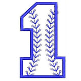 Baseball Number One Machine Embroidery Designs