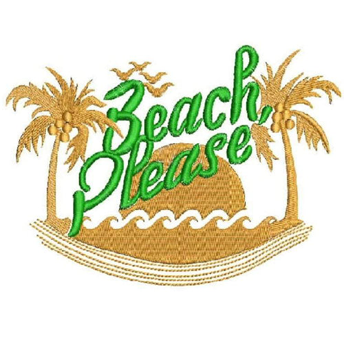 Beach Please Machine Embroidery Designs