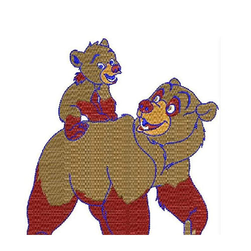 Brother Bear Machine Embroidery Designs 1597