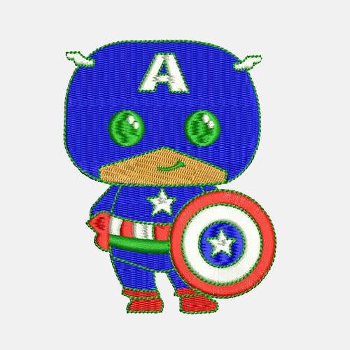 Captain America Machine Embroidery Designs 827