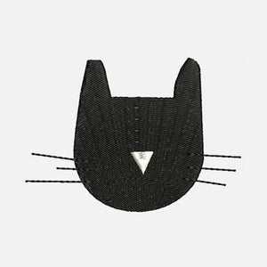 Cat Heads Pattern Machine Embroidery Designs - Applique Instant Download Filled Stitches Design 177
