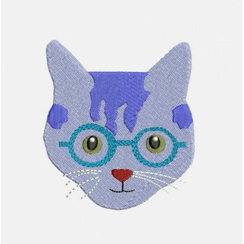 Cats With Glasses Machine Embroidery Designs 295K