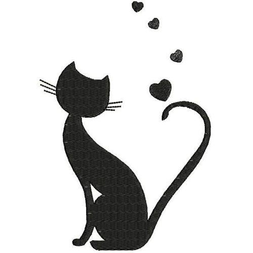 Cat with Hearts Machine Embroidery Designs 28