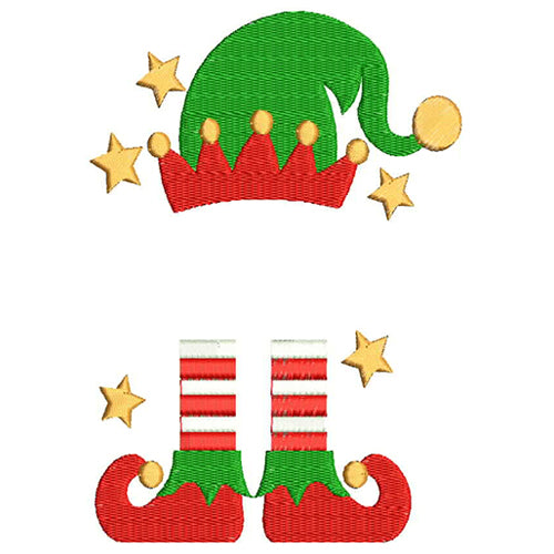 Christmas Elf Monogram Machine Embroidery Designs