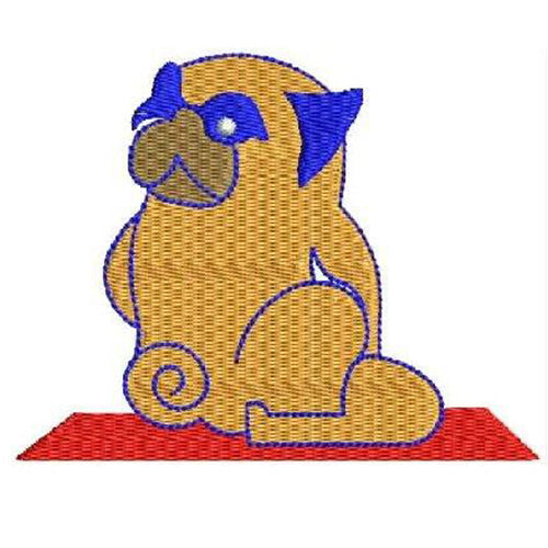 Cute puppy doing yoga Machine Embroidery Designs 1221