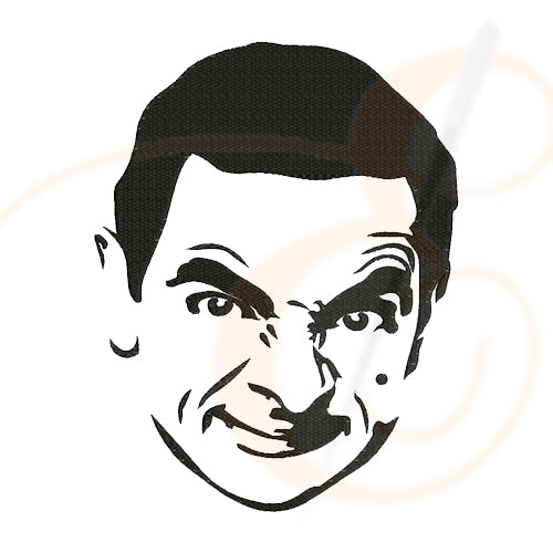 Mr Bean Face Machine Embroidery Designs