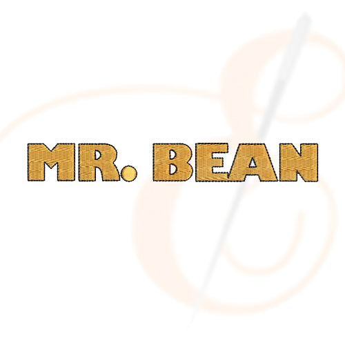 Mr Bean Font Machine Embroidery Designs