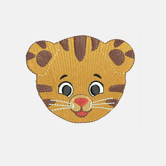 Baby Leopard Face Machine Filled Stitches Design 441