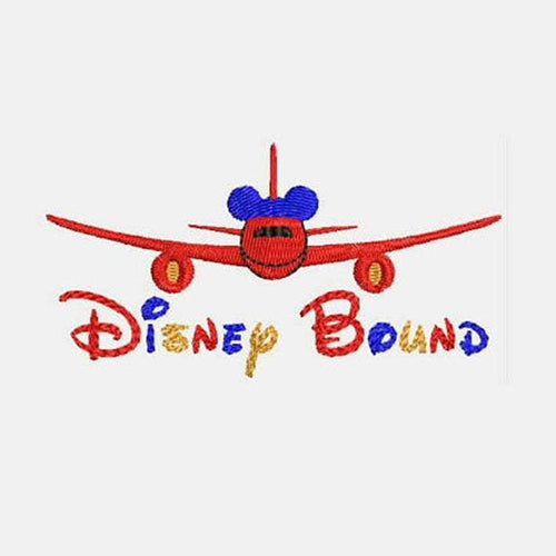 Disney Bound Airplane with Mickey Mouse ears Machine Embroidery Designs 419