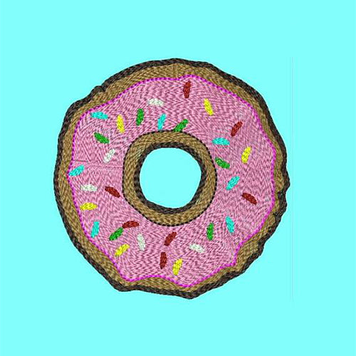 Doughnut - Pink Donuts Machine Embroidery Designs