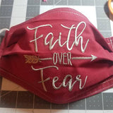 Faith over Fear with Arrow Machine Embroidery Designs