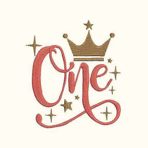 First Birthday Baby Girl Crown Machine Embroidery Designs