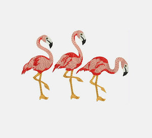 Flamingos Machine Embroidery Designs