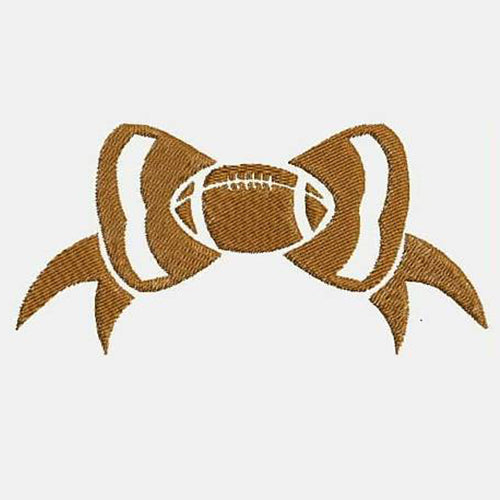 Football Bow Machine Embroidery Designs 346D