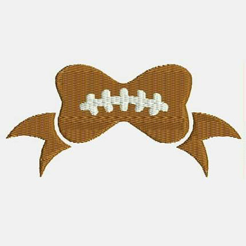 Football Bow Machine Embroidery Designs 346B