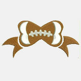 Football Bow Machine Embroidery Designs 346C
