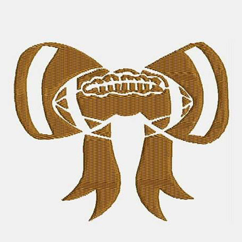 Football Bow Machine Embroidery Designs 346E